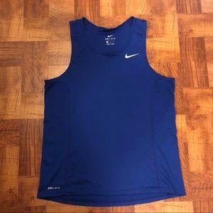 Royal blue Nike tank. Size M